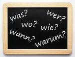 Wer Wo Was Wann Warum Wie - die W-Fragen